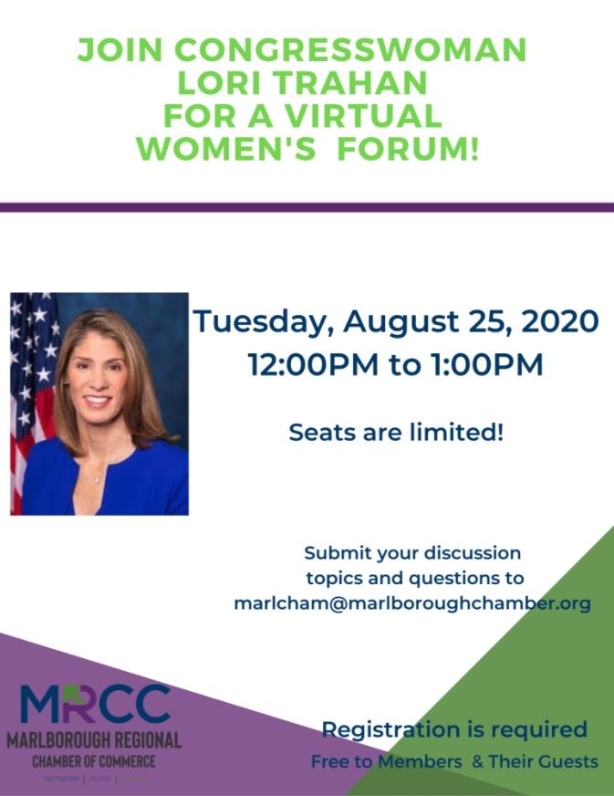 Virtual Women's Forum with Congresswoman Lori Trahan